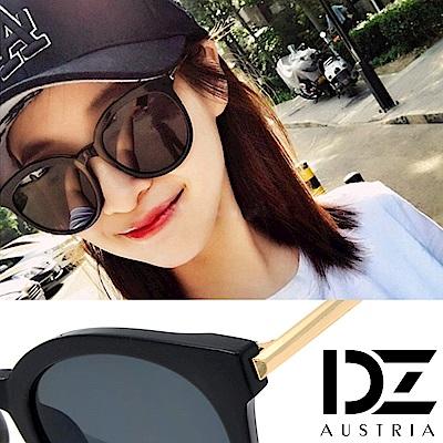 DZ 夏日型潮 抗UV防曬太陽眼鏡墨鏡(黑框灰片)