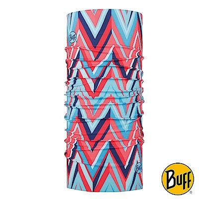 《BUFF》青少年Plus經典頭巾-粉藍波浪 BF118326-555