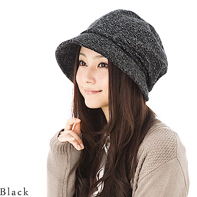 QUEENHEND日系抗寒保暖抗UV時尚小顏帽(黑色)