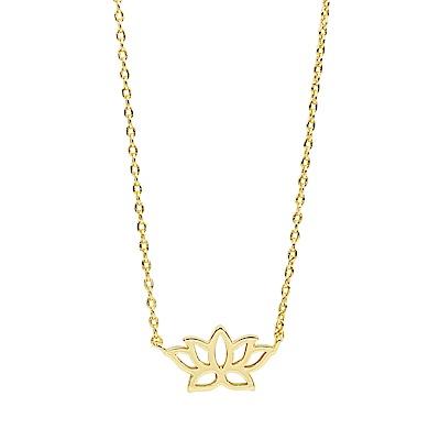 Orelia英國品牌 蓮花造型金色項鍊