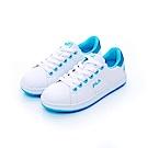 FILA  女潮流復古綁帶鞋-藍 5-C116T-300