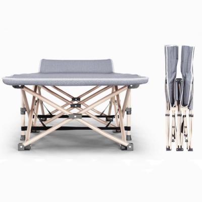 【休閒行家】免組裝加厚牛津布防翻折疊床(送收納袋+保暖絨棉床墊)
