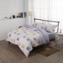 夢工場繪本童趣40支紗萊賽爾天絲四件式兩用被床包組-特大