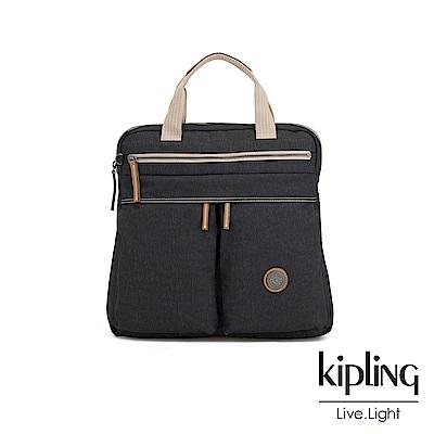 Kipling 城市探索霧灰前雙拉鍊手提後背兩用包-KOMORI S-EDGELAND系列
