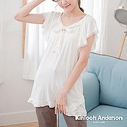 【Kinloch Anderson金安德森女裝】甜美蝴蝶結綁帶長版上衣-2色