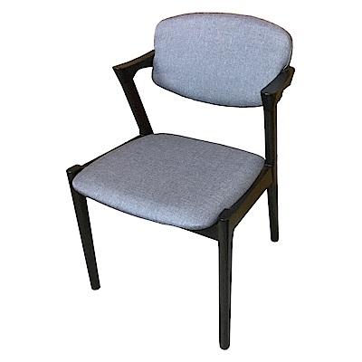 AS-Erin灰布面實木餐椅-54x58x78cm