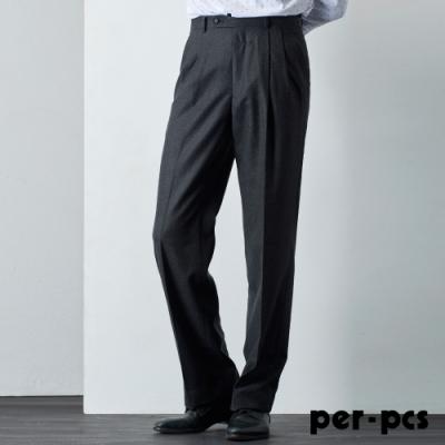 per-pcs 商務體面雙褶西裝褲_灰(811217)