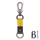 BAGMIO 雙環牛皮鑰匙圈-黃棕