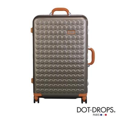 DOT-DROPS 28 吋 Chapter 4 時尚點點鋁框硬殼行李箱 - 香檳金