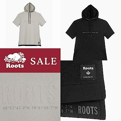 [時時樂]ROOTS -旅程印記系列 經緯度元素短袖洋裝 - 兩款選