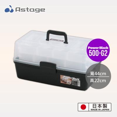 日本JEJ Astage Shelf Power Black 2層工具收納箱 500-G2