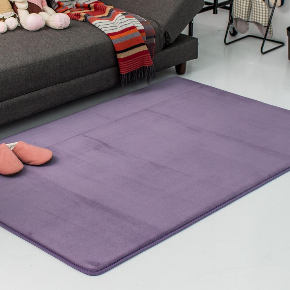 樂嫚妮 慢回彈乳膠底加大加厚地墊100X150cm-紫