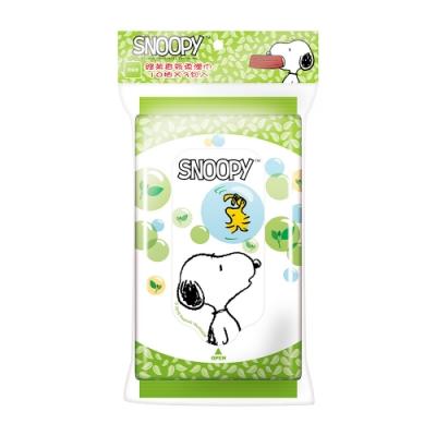Snoopy 史努比 綠茶香氛濕紙巾 10 抽 X 48 包/組
