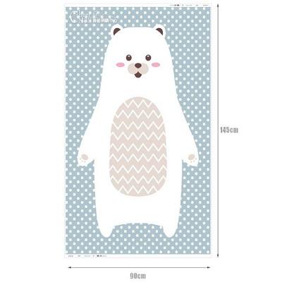 韓國進口圖案布 超萌動物系列-北極熊兒萬用圖案布料
