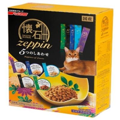 日清懷石zeppi-5Dish懷石極品-5味幸福貓糧 220克(22克*10小包) 四盒組