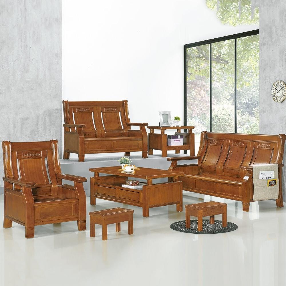 MUNA 2955型柚木色實木組椅(全組)  186X79X103cm