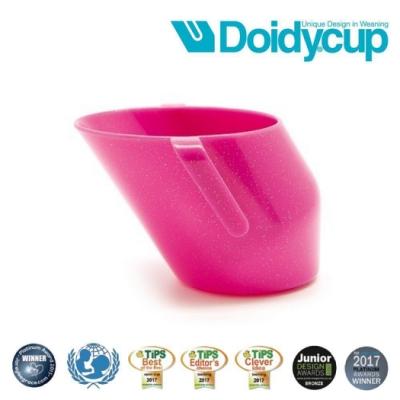 【英國Doidy cup】彩虹學習杯/訓練杯/刷牙杯-星空粉(專利造型設計 喝水看的見)