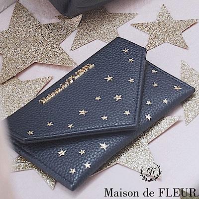 Maison de FLEUR 浪漫銀河圖案名片/卡夾包