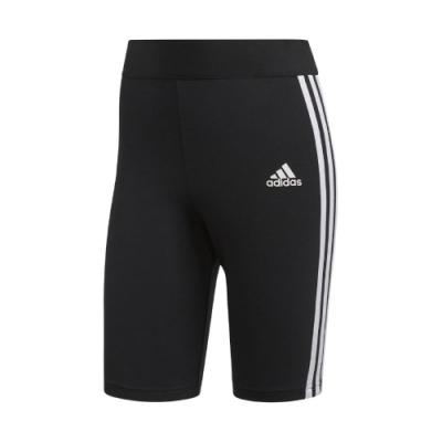 adidas 短褲 MH 3-Stripes Short 女款 愛迪達 緊身短褲 車褲 健身 重訓 穿搭 黑 白 FI4628