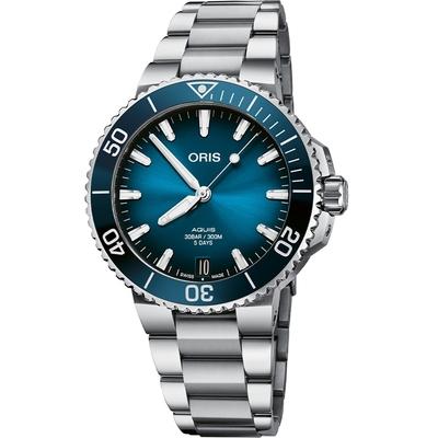Oris豪利時 Aquis Calibre 400 五日鍊日期潛水錶 0140077694135-0782209PEB-41.5mm