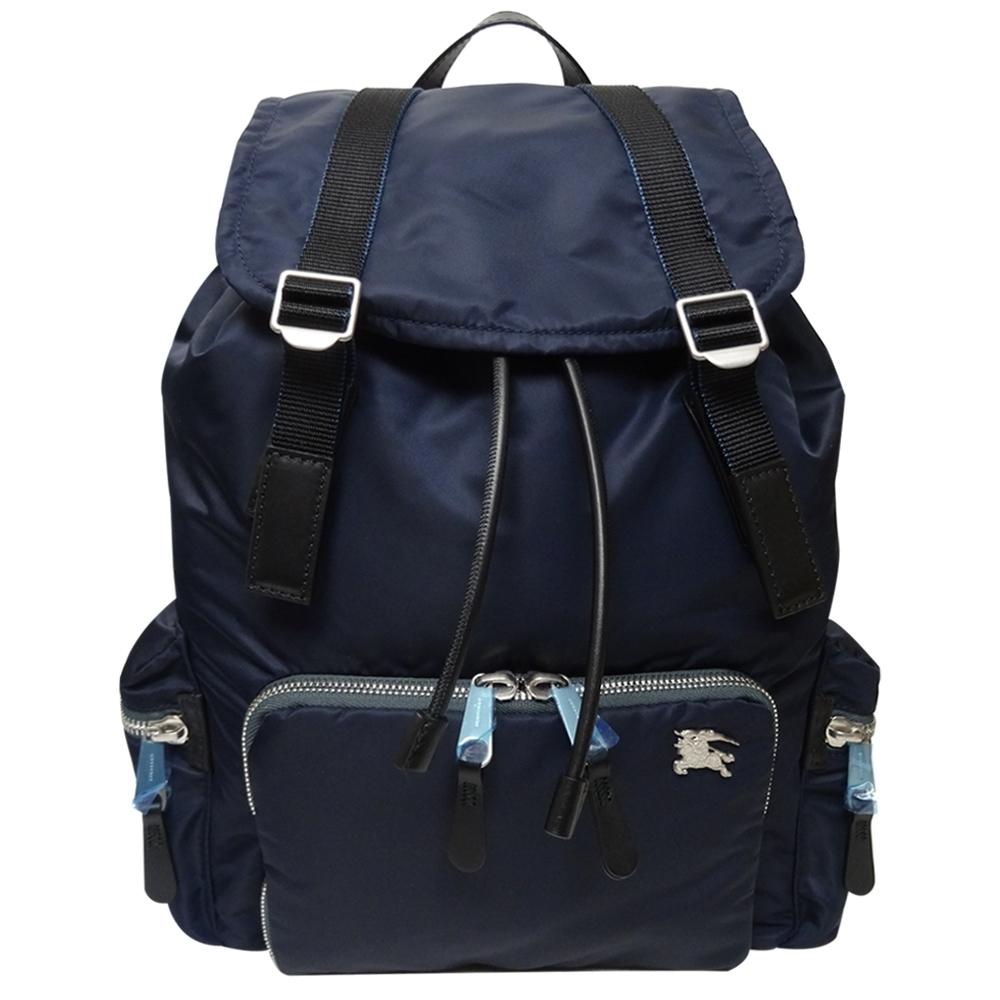 BURBERRY  鋪棉尼龍大款後背包(藍色)