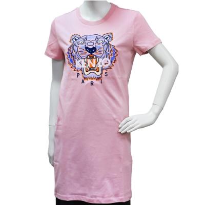 KENZO 老虎標誌印花長版短袖圓領衫(粉)