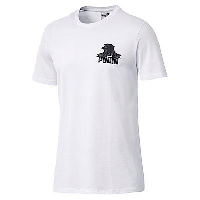 PUMA-男性流行系列Downtown豹頭短袖T恤-白色-歐規