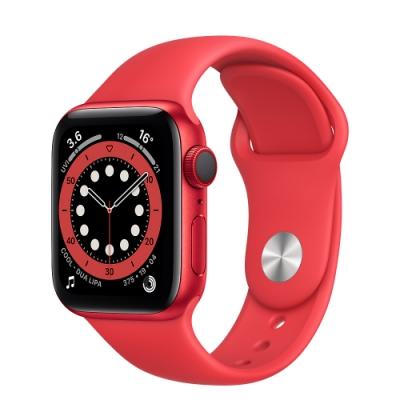 Apple Watch Series 6 (GPS+行動網路) 40mm 紅色鋁金屬錶殼+紅色錶帶(M06R3TA/A)