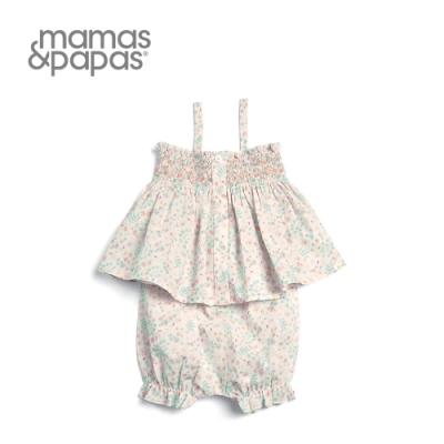 Mamas&Papas 野櫻畫布-細肩帶短褲套裝