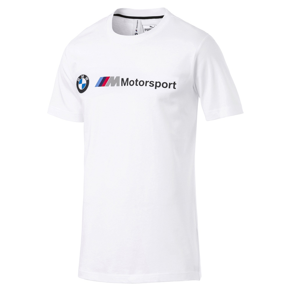 PUMA-男性BMW系列MMS Logo短袖T恤-白色-歐規