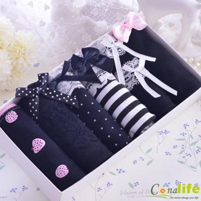 [時時樂專屬]Conalife 柔感親膚少女內褲禮盒6件組