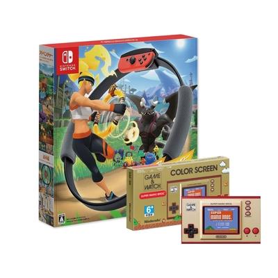 Switch健身環大冒險+任天堂 Game & Watch: 超級瑪利歐兄弟 攜帶型遊戲機