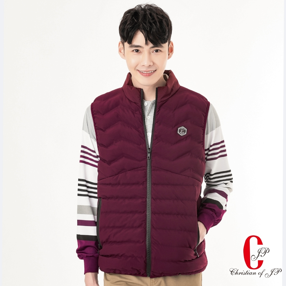 Christian  立領鋪棉保暖背心_紅(JW801-18)