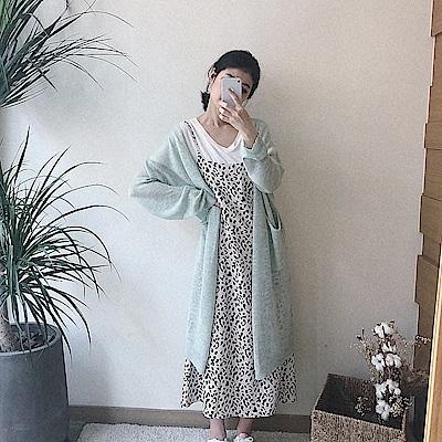 細緻冰絲感長版罩衫-3色-TMH