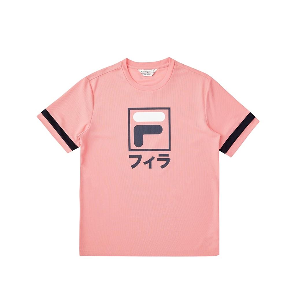 FILA #東京應援 短袖圓領T恤-粉桃 1TEV-5450-PC