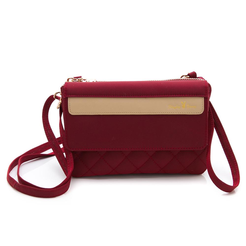 PLAYBOY- 萬用包附長背帶 質感新生活系列 -紅色