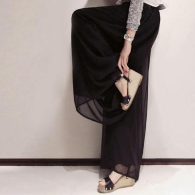 Lockers 木櫃-時尚飄逸寬鬆高挑闊腿褲-2色