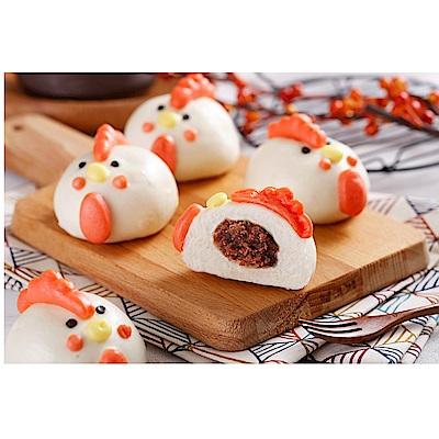 禎祥食品 小雞甜包(紅豆)(10粒/包,共三包)