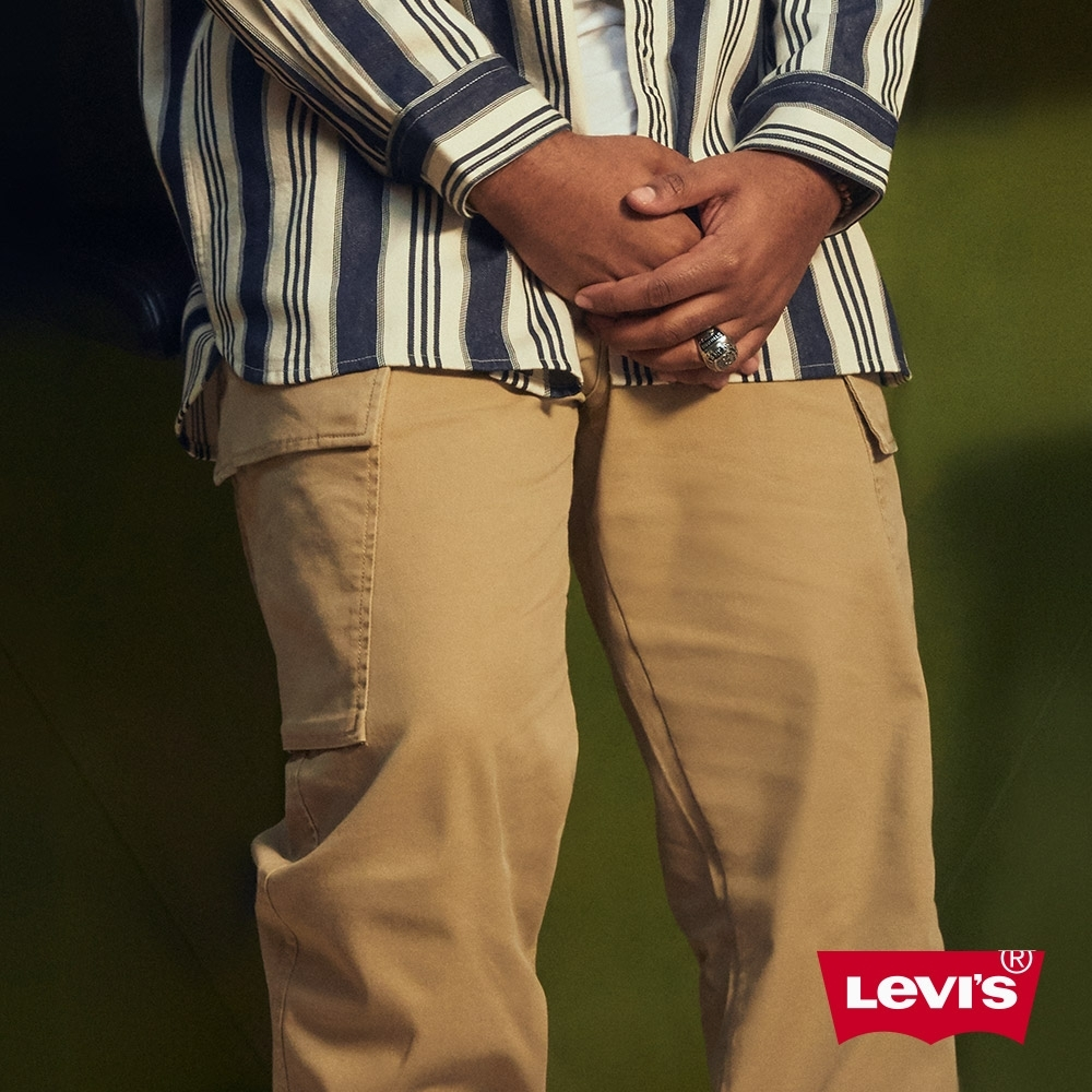 Levis 男款 上寬下窄 XX CARGO 卡奇休閒工作褲 形像款