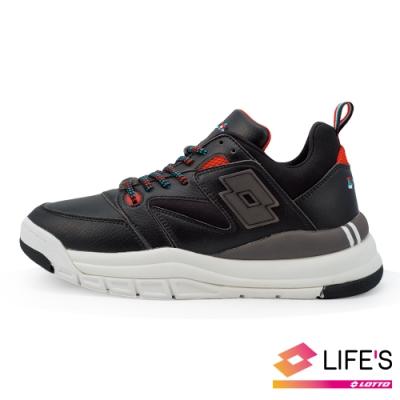 LOTTO 義大利 女 義式復古老爹鞋 (黑)