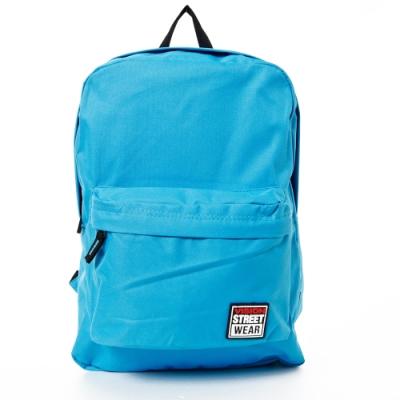 VISION STREET WEAR 潮牌時尚運動休閒雙肩後背包 水藍 VB2032L