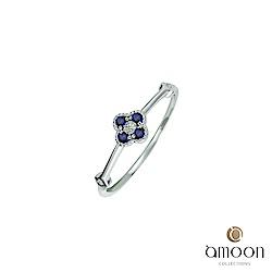 amoon 璀璨星空系列 花火 K金鑽石/藍寶石戒指