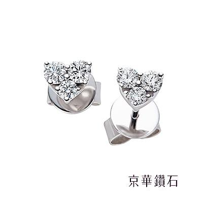 京華鑽石  摯愛 0.28克拉 18K鑽石耳環