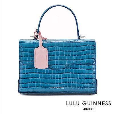 LULU GUINNESS QUEENIE 側背包-小 (藍)