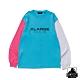 XLARGE L/S TEE TRICOLOR長袖T恤-藍 product thumbnail 1