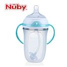 【麗嬰房】美國 Nuby Comfort 寬口徑防脹氣矽膠奶瓶 250ml (附 360度滾珠吸管)