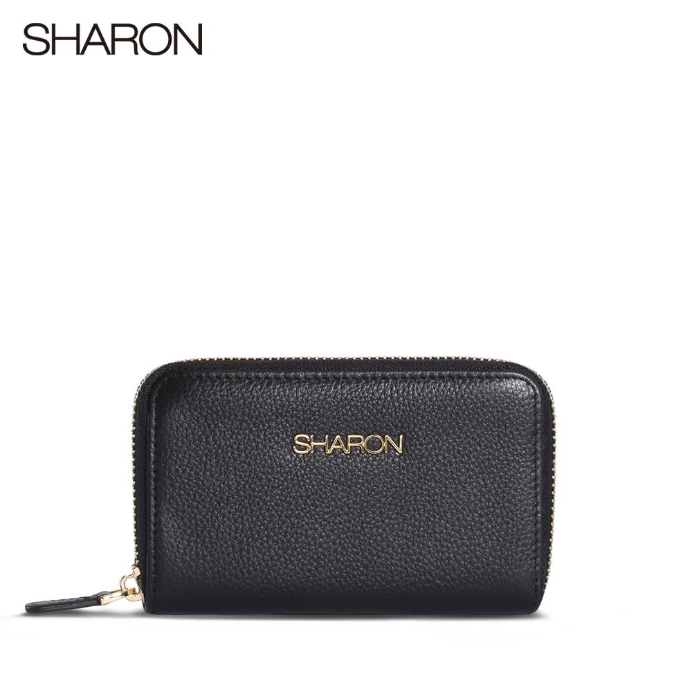 【SHARON 雪恩】荔枝紋小零錢包(黑色93025BK)