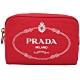 PRADA Canvas 牛仔帆布化妝包(紅色) product thumbnail 1