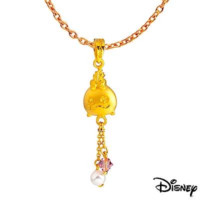 Disney迪士尼系列金飾 黃金/水晶墜子-我是丫頭款 送項鍊