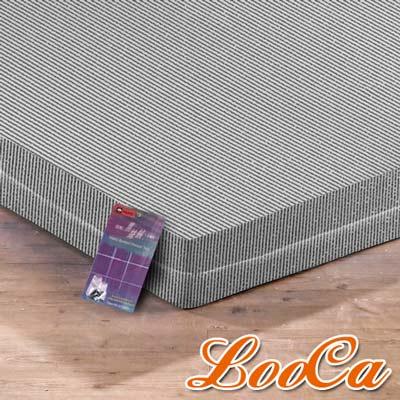 LooCa 黑絲絨竹炭6cm記憶床墊-單大3.5尺